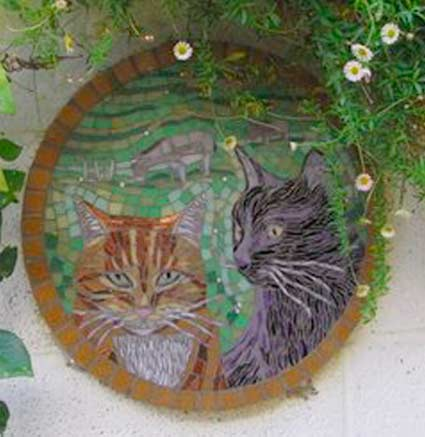 Two Cats Mosaic